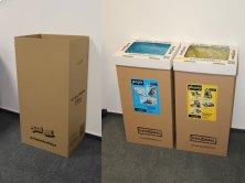 Krabice na třídění odpadu velká hnědá