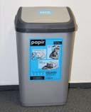 Nádoba na tříděný odpad 50l plastová stříbrná
