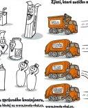 Omalovávací list - třídění odpadu